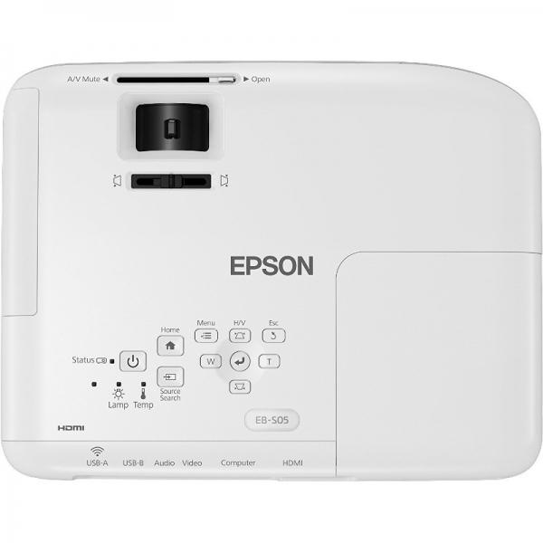 "Videoproiector Epson EB-S05 ""V11H838040"" White 4"