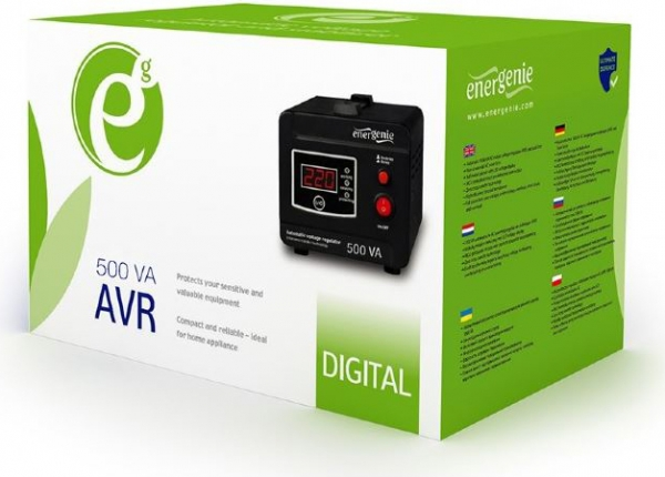 "AVR  500VA, 1 x Schuko socket, sinusoida pura, GEMBIRD ""EG-AVR-D500-01"" (include timbru verde 3 lei) 1"
