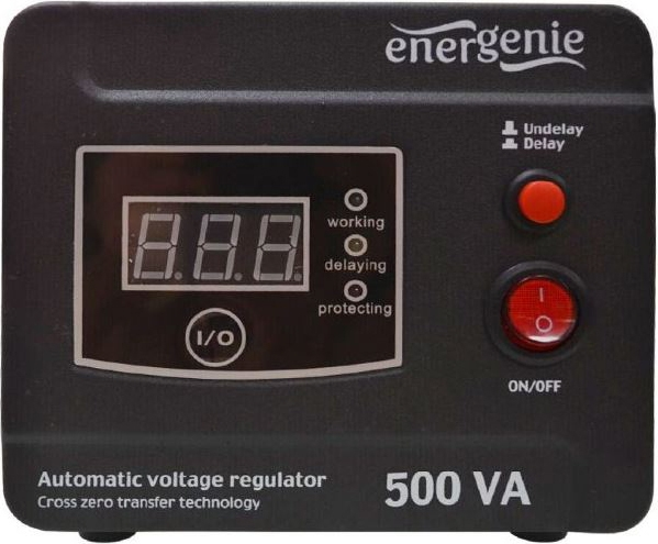 "AVR  500VA, 1 x Schuko socket, sinusoida pura, GEMBIRD ""EG-AVR-D500-01"" (include timbru verde 3 lei) 0"