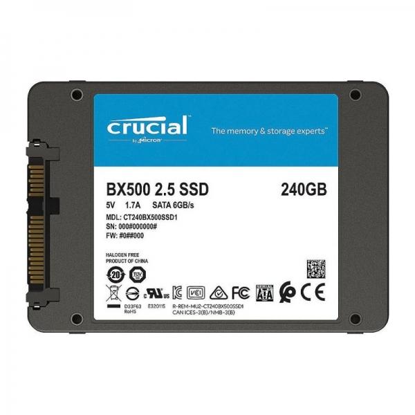 SSD Crucial BX500 240GB SATA-III 2.5 inch 1