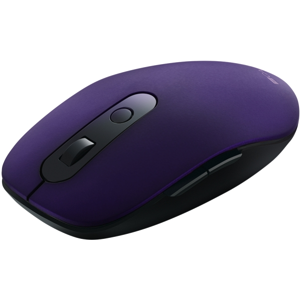 Canyon 2 in 1 Wireless optical mouse with 6 buttons, DPI 800/1000/1200/1500, 2 mode(BT/ 2.4GHz), Battery AA*1pcs, Violet, 65.4*112.25*32.3mm, 0.092kg 1