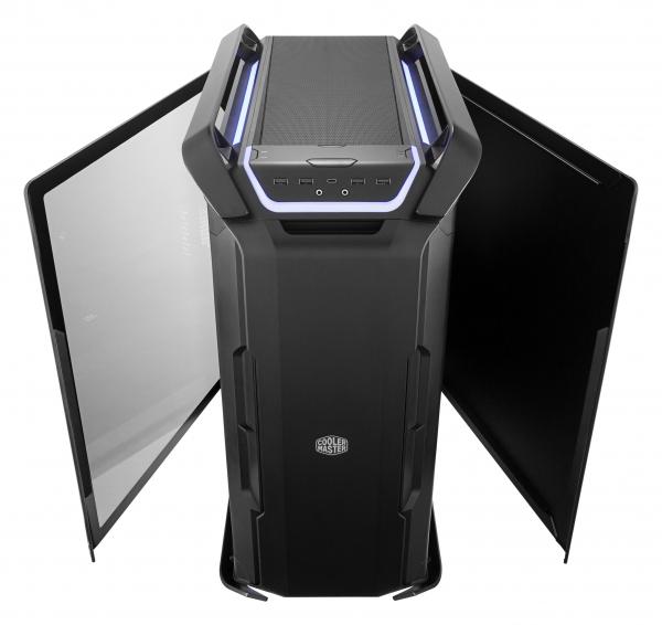 "CARCASA COOLER MASTER. Full-Tower E-ATX, Cosmos  C700P, tempered glass, 3* 140mm fan (inclus), I/O panel, RGB controller & RGB LED strips, black ""MCC-C700P-KG5N-S00"" 2"