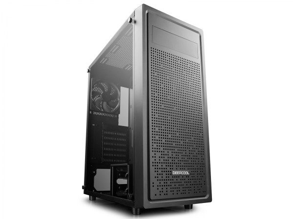 "CARCASA DeepCool Middle-Tower  E-ATX, 1* 120mm fan (inclus), tempered glass, front audio & 1x USB 3.0,  2x USB 2.0, black ""E-SHIELD"" 0"