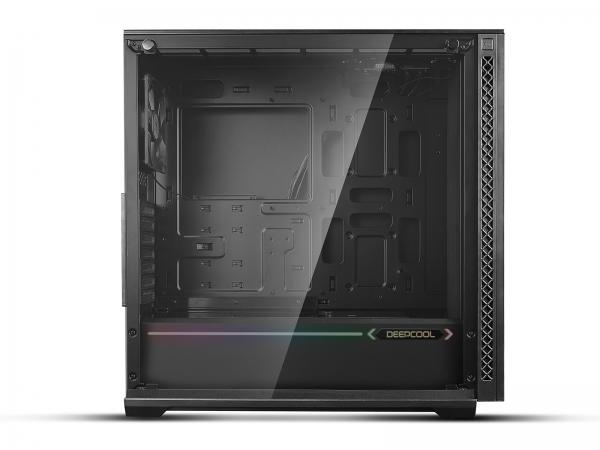 "CARCASA DeepCool Middle-Tower E-ATX,  3x 120mm CF120 fans, header RGB ADD, RGB LED strip, tempered glass, front audio & 2x USB 3.0, 2x USB 2.0, black ""MATREXX 70 ADD-RGB 3F"" 2"