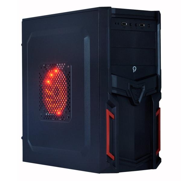 "CARCASA SPACER  Mini-Tower ATX, fara sursa, Pr1m3, 1*80mm & 1* 120mm fan instalate, I/O panel, Black&Red ""SP-GC-03"" 0"
