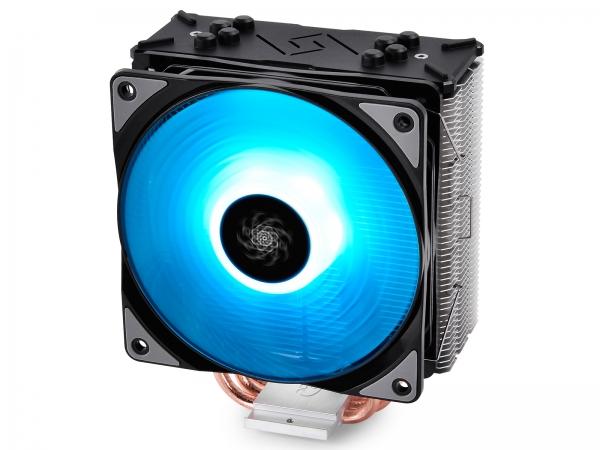 """COOLER DeepCool CPU universal, soc LGA20xx/1366/115x & AMx/FMx, Al+Cu, 4x heatpipe, 150W, RGB LED """"GAMMAXX GTE"""" 0"""