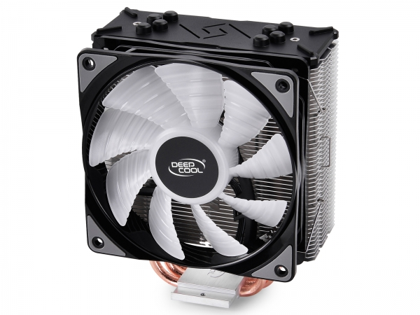 """COOLER DeepCool CPU universal, soc LGA20xx/1366/115x & AMx/FMx, Al+Cu, 4x heatpipe, 150W, RGB LED """"GAMMAXX GTE"""" 1"""