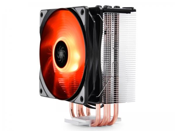 """COOLER DeepCool CPU universal, soc LGA20xx/1366/115x & AMx/FMx, Al+Cu, 4x heatpipe, 150W, RGB LED """"GAMMAXX GTE"""" 3"""