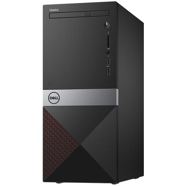 Dell Vostro Desktop 3670, Intel Core i7-8700, 8GB (1x8GB) DDR4 2666MHz, 1TB 7200RPM, Intel Graphics, DVD+/-RW, WiFi 802.11bgn, BT 4.0, Dell MS116 USB Mouse, Dell KB216 US Keybd, Win 10 Pro(64bit), 3Yr 0