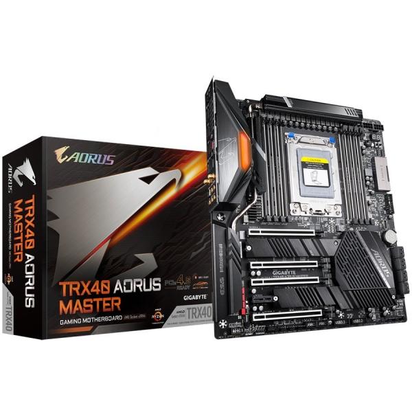 GIGABYTE Main Board Desktop AMD AORUS MASTER TRX4 (8xDDR4, Realtek ALC1220, 2xIntel® GbE LAN chip, 2xPCIEX16, 2xPCIEX8, 1xPCIEX1, 3x M.2, 8xSATA 6Gb/s, RAID 0,1,10,1x USB Type-C, 2xUSB 3.2 Gen1, 2xUSB 0