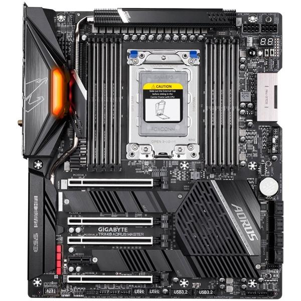 GIGABYTE Main Board Desktop AMD AORUS MASTER TRX4 (8xDDR4, Realtek ALC1220, 2xIntel® GbE LAN chip, 2xPCIEX16, 2xPCIEX8, 1xPCIEX1, 3x M.2, 8xSATA 6Gb/s, RAID 0,1,10,1x USB Type-C, 2xUSB 3.2 Gen1, 2xUSB 1