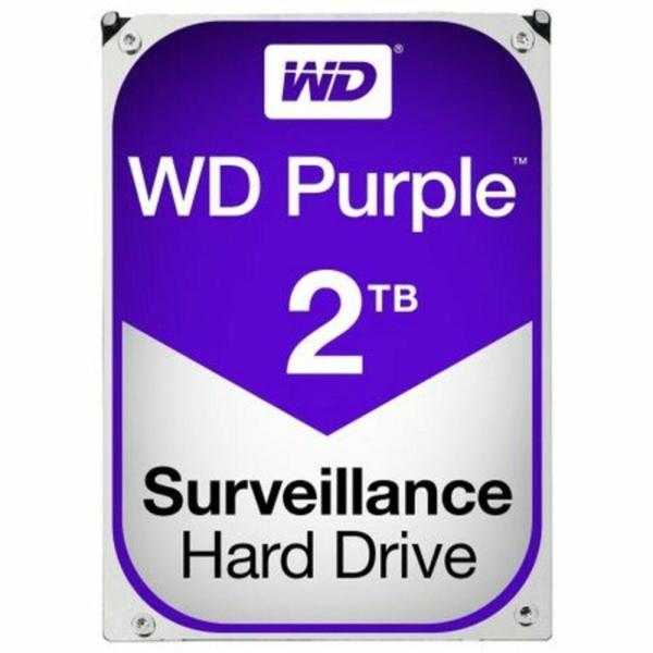 """HDD 2TB PURPLE  64MB S-ATA3 """"2PURZ"""" WD SURVEILLANCE """"WD20PURZ"""" 0"""