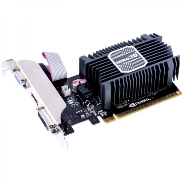 Inno3D Video Card GeForce GT730 2GB SDDR3 64-bit 902 1600 DVI+VGA+HDMI Heatsink+LP Bracket 0
