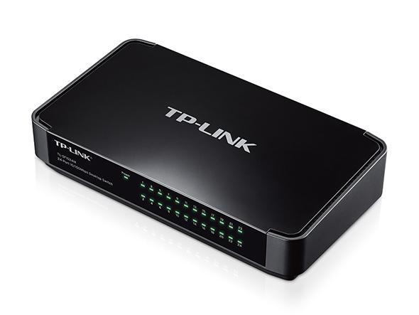 Switch 24 Port-uri 10/100 desktop, carcasa plastic, TP-LINK  0