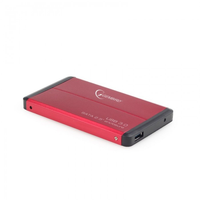 "RACK EXTERN 2.5"" HDD S-ATA TO USB 3.0, red,  GEMBIRD  0"