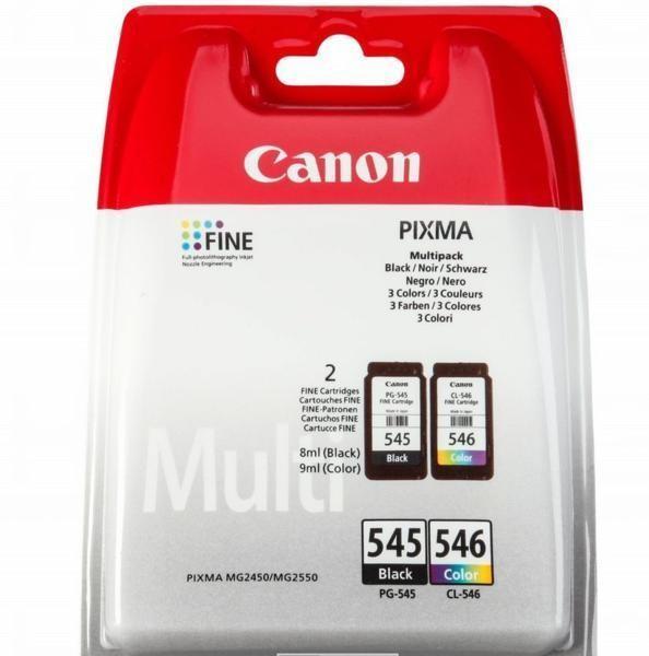 Cartus cerneala Original Canon PG-545 + CL-546 (Negru + Color) , compatibil MG2450/MG2550  0