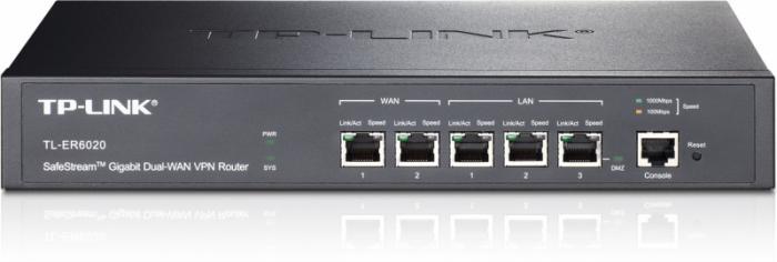 Router Gigabit VPN Dual-Wan, 2x WAN, 3x LAN, 1x Console, TP-LINK TL-ER6020 0