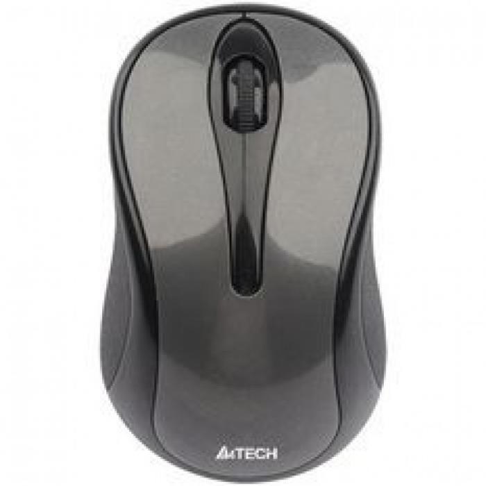 MOUSE A4TECH G3 Wireless 2.4G, V-track Padless, Black  0