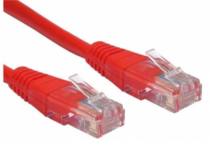 CABLU UTP Patch cord cat. 5E -  1 m, red Spacer  0