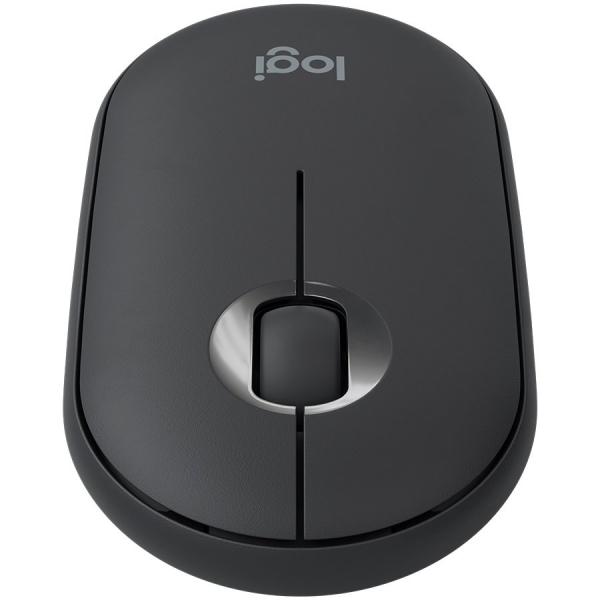 LOGITECH Pebble M350 Wireless Mouse - GRAPHITE - 2.4GHZ/BT - EMEA - CLOSED BOX 1