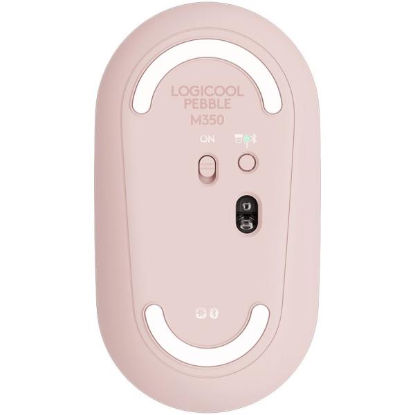 LOGITECH Pebble M350 Wireless Mouse - ROSE - 2.4GHZ/BT - EMEA - CLOSED BOX 2