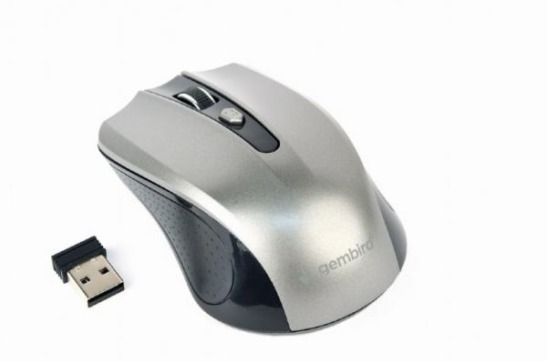 "MOUSE GEMBIRD wireless, 1600dpi, 4 butoane, 1 rotita scroll, black&grey ""MUSW-4B-04-BG"" (include timbru verde 0.1 lei) 0"