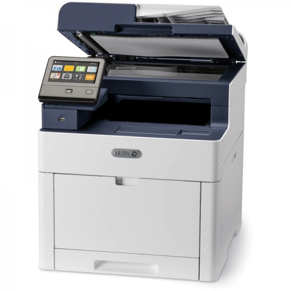 Multifunctional laser color Xerox 6515V_DNI, dimensiune A4 (Printare,Copiere, Scanare, Fax), duplex, viteza max 28ppm alb-negru si color, rezolutie max 1200x2400dpi, memorie 2GB RAM, procesor 1,05 Ghz 0