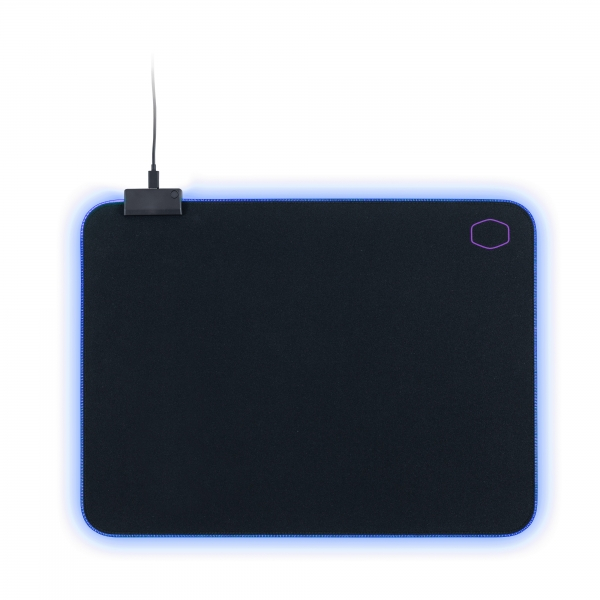 "PAD RGB COOLER MASTER gaming, 470 x 350 x 3mm, cauciuc natural & tesatura, margini cusute & iluminate RGB, durabilitate crescuta, black & purple ""MPA-MP750-L"" 0"