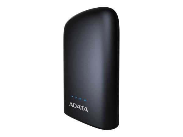"POWER BANK ADATA 10050mAh, 2 x USB, 4 x LED pt. status baterie, P10050V 10.050 mAh, total 2.4A, lanterna LED, black ""AP10050V-DUSB-CBK"" 0"