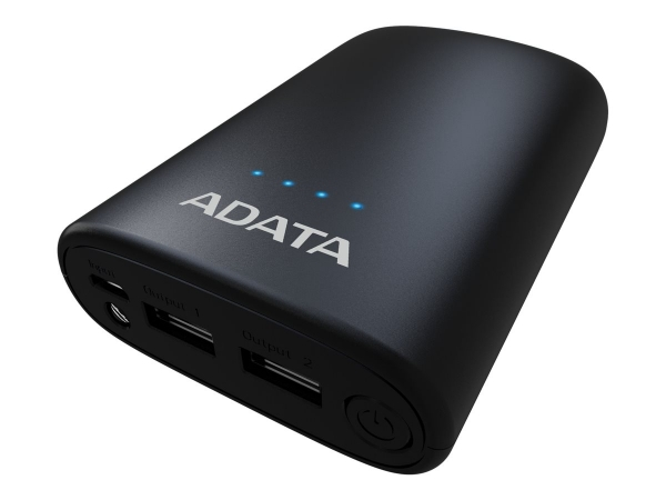 "POWER BANK ADATA 10050mAh, 2 x USB, 4 x LED pt. status baterie, P10050V 10.050 mAh, total 2.4A, lanterna LED, black ""AP10050V-DUSB-CBK"" 2"