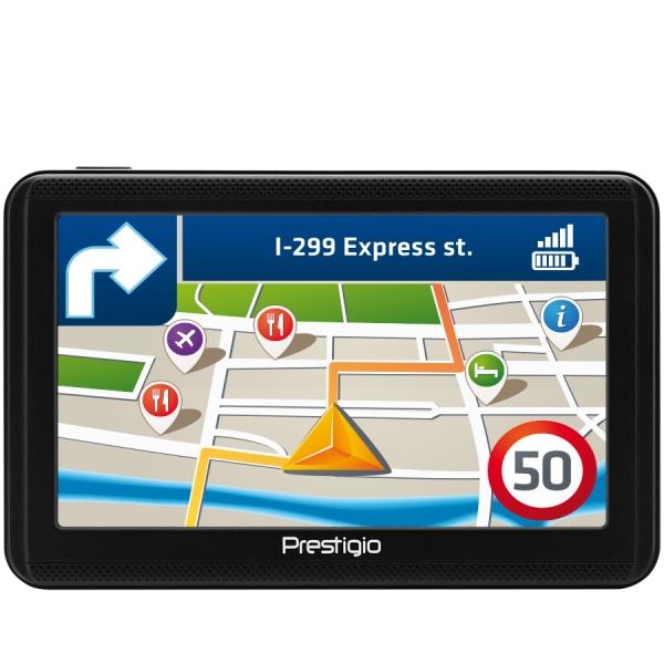 "Prestigio GeoVision 5060, 5"" (480*272) TN display, WinCE 6.0, 800MHz Mstar MSB2531 Cortex A7, 128MB DDR, 4GB Flash, 600mAh battery, color/black 0"