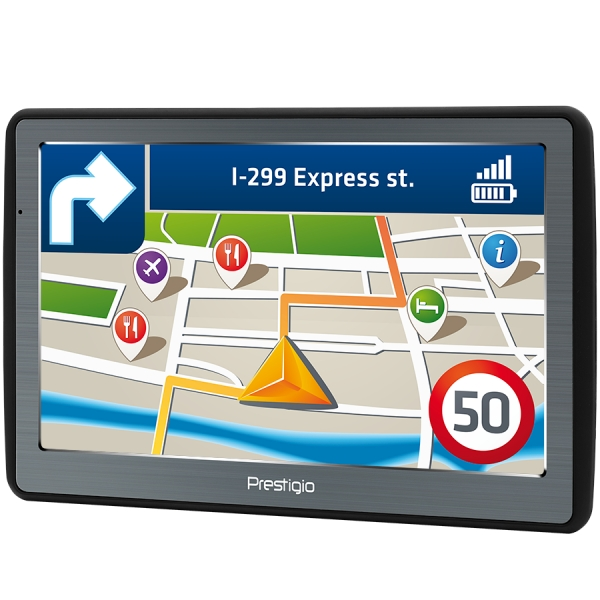 "Prestigio GeoVision 7060, 7"" (800*480) TN display, WinCE 6.0, 800MHz Mstar MSB2531 Cortex A7, 128MB DDR, 8GB Flash, 1500mAh battery, color/black 1"