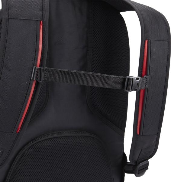 """RUCSAC CASE LOGIC notebook 15.6"""", poliester, 2 compartimente, buzunar interior tableta, buzunar frontal, 4 buzunare laterale, orificiu acces casti, buzunar dorsal ascuns, black, """"BEBP215"""" 3201673 7"""