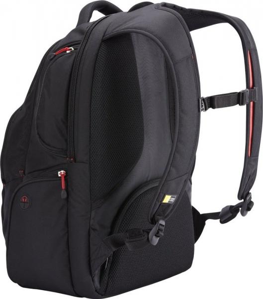 """RUCSAC CASE LOGIC notebook 15.6"""", poliester, 2 compartimente, buzunar interior tableta, buzunar frontal, 4 buzunare laterale, orificiu acces casti, buzunar dorsal ascuns, black, """"BEBP215"""" 3201673 3"""