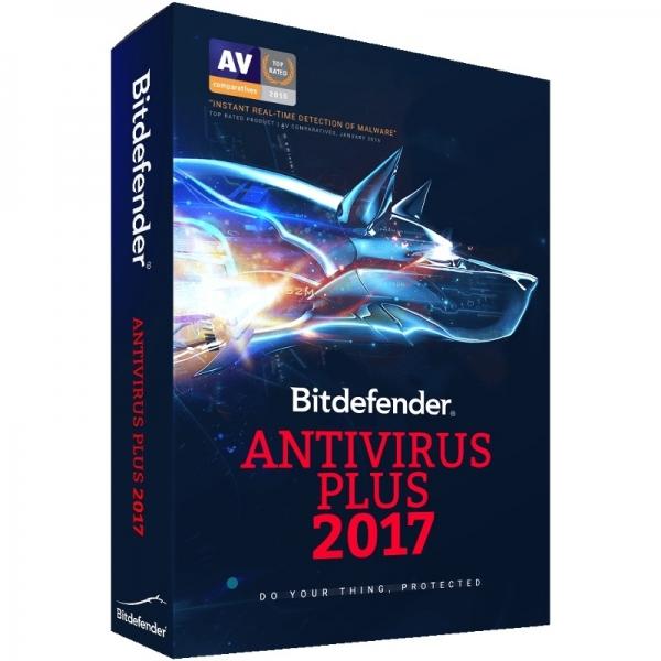 Licenta electronica Antivirus Bitdefender Antivirus Plus 2017, 3 PC, 1 an, New License, Retail 0