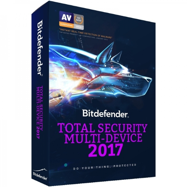 Licenta electronica Antivirus Bitdefender Total Security Multi-Device 2017, 3 device-uri, 1 an, New License, Retail 0