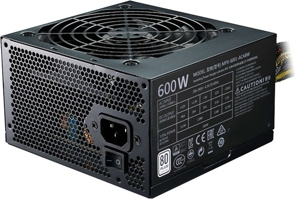 "SURSA COOLER MASTER  MasterWatt Lite, 600W (real), silent HDB fan 120mm, 85% eficienta, 2x PCI-E (6+2), 6x S-ATA ""MPX-6001-ACABW-EU"" 0"