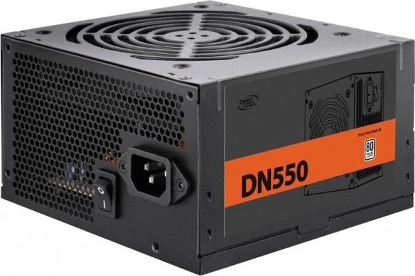 """SURSA DEEPCOOL, 550W (real), 120mm silent fan, 80 PLUS & max 85% eficienta, 2x PCI-E (6+2), 5x S-ATA """"DN550"""" 0"""