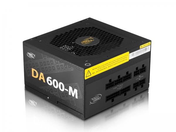 """SURSA DeepCool 600W (real), modulara, fan 120mm PWM, 80 PLUS & max 85% eficienta, 2x PCI-E (6+2), 5x S-ATA """"DA600-M"""" 1"""