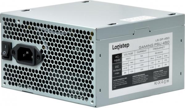 "SURSA LogiStep 450, 250W pt. 450W desktop PC, Gaming PSU 450, 120mm fan, 1x PCI-E (6), 4x S-ATA ""LS-GP-450"" 3"