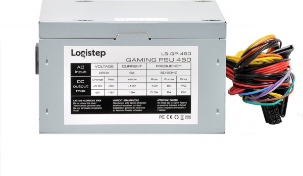 "SURSA LogiStep 450, 250W pt. 450W desktop PC, Gaming PSU 450, 120mm fan, 1x PCI-E (6), 4x S-ATA ""LS-GP-450"" 2"