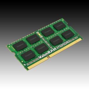 KINGSTON ValueRAM DDR3 SODIMM SDRAM Non-ECC (4GB,1600MHz(PC3-12800),Single Rank,Unbuffered) CL11, EAN: 7406172077810