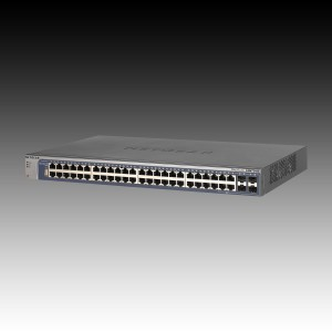 Switch NETGEAR ProSafe GSM7248 52 ports (48 x Gigabit Ethernet/Fast Ethernet/Ethernet, 4 x Gigabit Ethernet/Fast Ethernet/Ethernet, 4 SFP Slots, Rackmount, Auto-sensing per port, Radius/TACACS+, Web I0