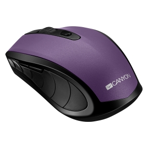 2 in 1 Wireless mouse, Optical 800/1200/1600 DPI, 6 button, 2 mode(BT/ 2.4GHz), violet0