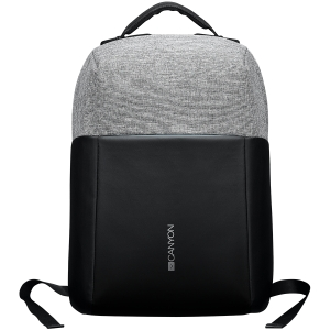 """Backpack for 15.6"""" laptop, black and dark gray (Material: 900D Glued Polyester and 600D Polyester)0"""