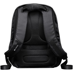 """Backpack for 15.6"""" laptop, black and dark gray (Material: 900D Glued Polyester and 600D Polyester)2"""