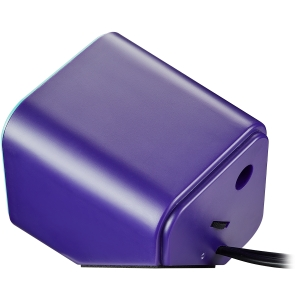 Canyon wired stereo Speaker, 1.2m cable with USB2.0 & 3.5mm audio connector, purple(blue stripe)2
