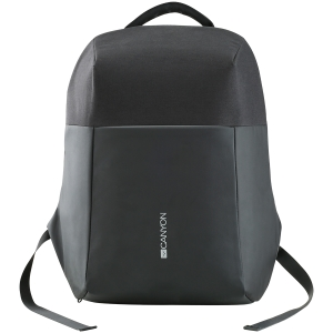 "Backpack for 15.6"" laptop, material 900D glued polyester and 600D polyester, black, USB cable length0.6M, 400x210x480mm, 1kg,capacity 20L0"