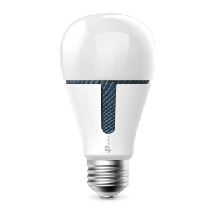BEC LED wireless TP-LINK, 800lm, 10W, E27, se conecteaza la router Wi-Fi, intensitate reglabila, control prin smartph.cu apl.Kasa, ajustare automata a luminii in fct. de momentul zilei, lumineaza in d0