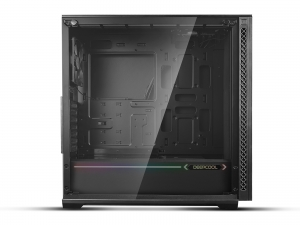 "CARCASA DeepCool Middle-Tower E-ATX,  3x 120mm CF120 fans, header RGB ADD, RGB LED strip, tempered glass, front audio & 2x USB 3.0, 2x USB 2.0, black ""MATREXX 70 ADD-RGB 3F""2"